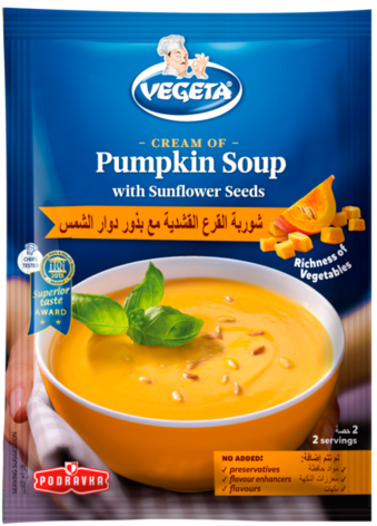 Vegeta Cream of Pumpkin Soup with Sunflower Seeds