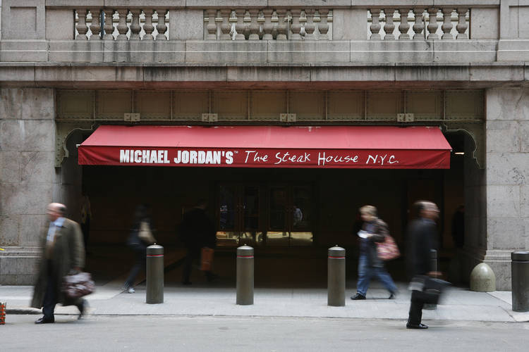 Michael jordan's the steak house n.y.c.  vanderbilt ave. entrance
