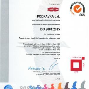 Certificates ♥ Podravka
