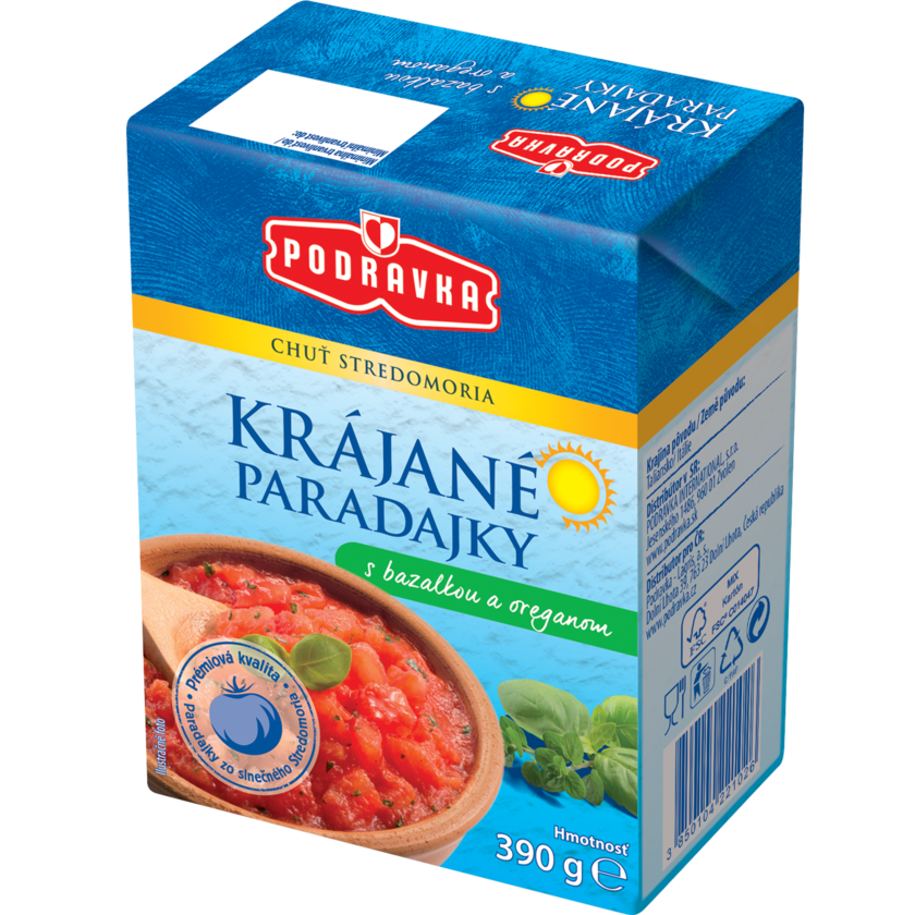 Krájané paradajky s bazalkou a oreganom ♥ Podravka e87a37e98c5