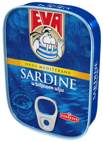 Sardines with vegetable oil