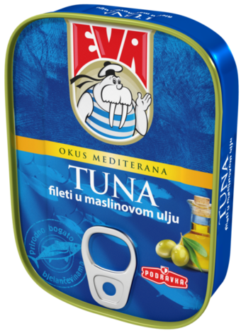 Tuna filets in olive oil